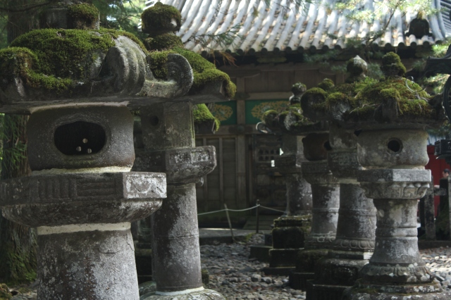 Also widely photographed, these lanterns have been donated to the shrines by Japanese lords and samurai.