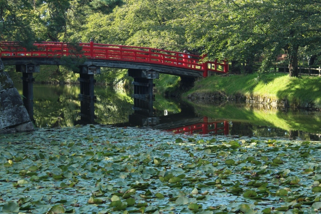 The signature red of Japan's shrines, temples, castles, and gates, marking sacred territory.
