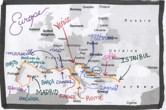EUROPE ROUTE