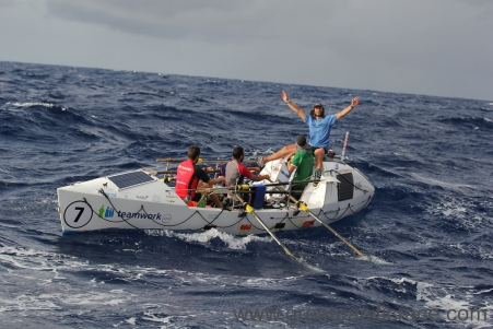 Row across the ocean with a team as part of the Great Pacific Race.