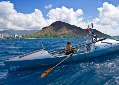 Roz Savage rowed solo from San Francisco to Honolulu, HI.