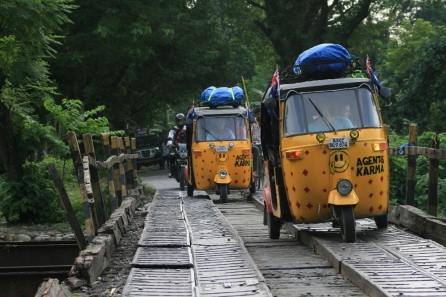 Race a rickshaw across India at one of three annual competitions.
