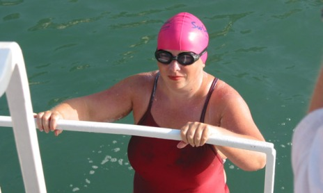 Sally Goble started swimming when she was 30 and went on to swim the English Channel.
