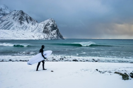 Surfing the Arctic Swell, an incredible short film. Photo by Chris Burkard.