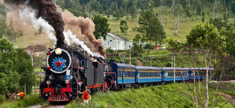Take the Trans-Siberian railroad and see the entire Russian countryside.