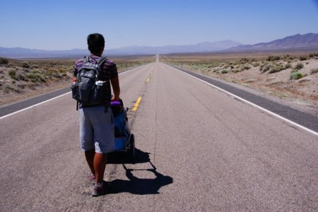 Walk across America, like one of the 16+ people documented to have accomplished the journey.